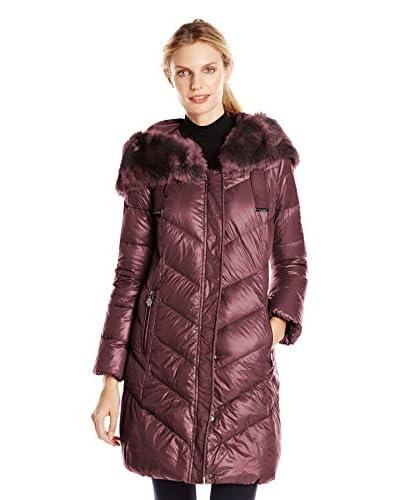 T. Tahari Women's Austin Puffer Coat with Faux Fur Trim
