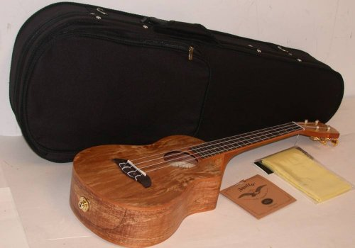 Oscar Schmidt Ou8Tlce Acoustic/Electric Tenor Ukulele, Spalted Maple Top, Back And Sides, Satin Finish, Includes Tms Polishing Cloth, Polyfoam Soft Sided Case & Extra Set Of Aquila 10U Nylgut Strings