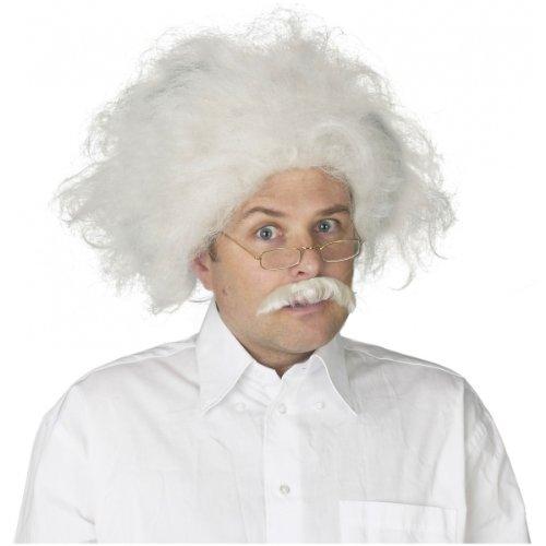 Scientist Wig and Mustache Costume Accessory (Einstein Costume Wig)