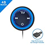 Bluetooth Car Adapter, APPS2Car Bluetooth 4.0 Receiver Wireless Stereo for Hands-Free Calls & Music Streaming with 3.5mm AUX Input - 2 Port USB Car Charger inclued