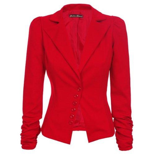 blazer rouge. Black Bedroom Furniture Sets. Home Design Ideas