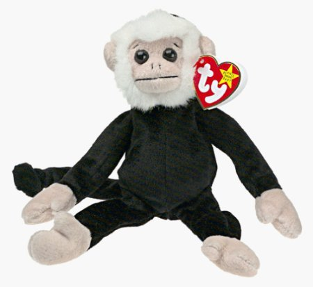 Mooch the Capuchin/White Face Monkey Beanie Baby (Retired)