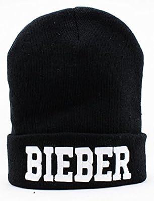 Justin Bieber Beanie (Black with White Logo)
