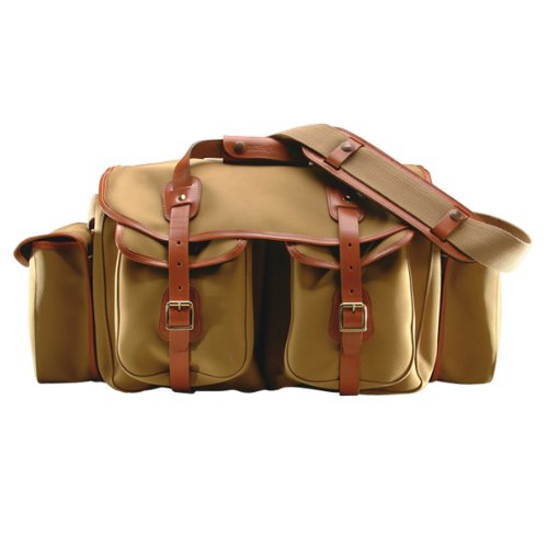 Billingham 550 Khaki Canvas Camera Bag  Tan Leather