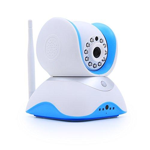 HiKam Q7 Wireless IP Kamera HD 720p für Smartphone, mit deutscher App+Anleitung+Support (1.3MP, 433MHz Tür Fensteralarm mit Sicherheits-Hub, Tag/Nachtsicht, Pan/Tilt, Gegensprechfunktion, Schwenkbar, Bewegungsmelder, 2-Wege-Audioverbindung, dig. Zoom, WiFi WLAN IP Kamera Camera Cam HD, Ethernet, micro SD Karte, Alarm, Infrarot, mobil Android/iOS/iPhone/iPad/Tablet, Überwachungskamera Sicherheitskamera, Kamera mit WLAN)