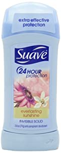 Suave Invisible Solid AntiPerspirant Deodorant, Everlasting Sunshine, 2.6 Ounce (Pack of 4)