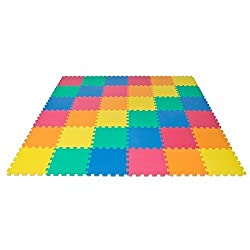 Best Choice Products Rainbow Interlocking Eva Foam Baby Mat Children Crawling Playing Floor 36 Pcs