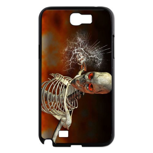 Samsung Galaxy Note 2 N7100 Skeleton Phone Back Case Personalized Art Print Design Hard Shell Protection Aq040799