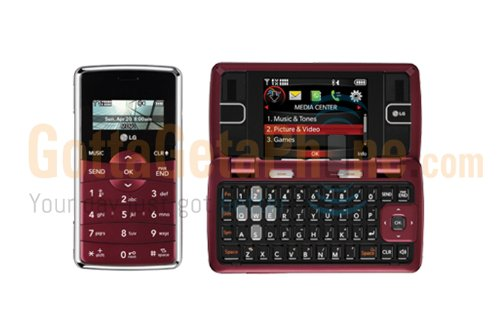 Verizon LG enV2 VX9100 No Contract 3G Camera QWERTY MP3 Cell Phone Maroon