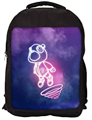 Snoogg Cartoon Cute Fly Backpack Rucksack School Travel Unisex Casual Canvas Bag Bookbag Satchel