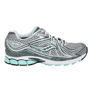 Saucony Women's ProGrid Hurricane 12 Running Shoe Silver/Gray/Aqua women's 5