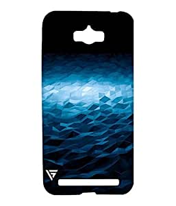 Vogueshell Blue Triangle Pattern Printed Symmetry PRO Series Hard Back Case for Asus Zenfone Max
