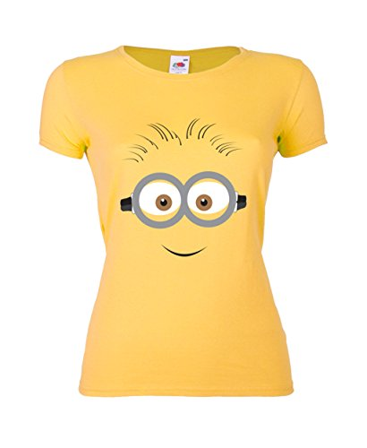 GIOVANI-RICCHI-Camiseta-para-mujer-amarillo-X-Large