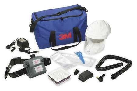 3M Safety AMH-12U Air-Mate Vinyl Belt-Mounted High Efficiency HE Powered Air Purifying Respirator PAPR System
