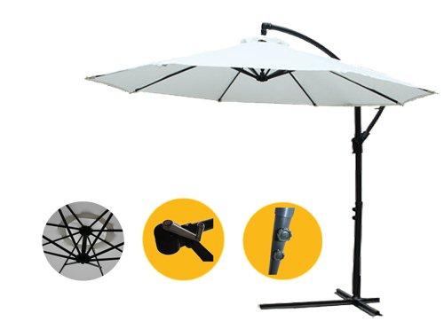 3 Meter Sonnenschirm Gartenschirm Ampelschirm Schirm Inkl. Schirmständer GHU30C günstig
