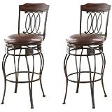 ACME 96049 Set of 2 Tavio Swivel Bar Chair, 29-Inch
