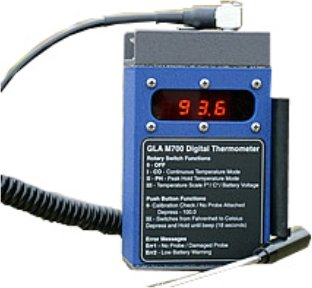 Gla M750 Digital Thermometer For Large Animals