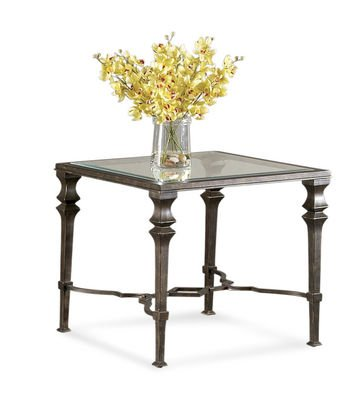 Image of Bassett Mirror T1210-250 Lido Square End Table in Burnished Bronze (T1210-250)