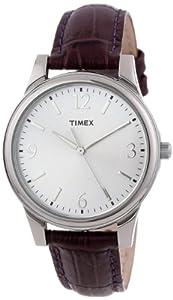 Timex Women's T2P089TN Purple Croco Patterned Leather Strap Watch