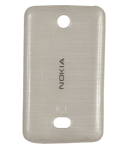 iCandy Soft TPU Shiny Back Cover for Nokia Asha 501 - White  available at amazon for Rs.99