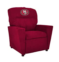 Imperial Officially Licensed NFL Furniture: Pre-Teen Microfiber Recliner, San Francisco 49ers