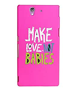 KolorEdge Printed Back Cover For Sony Xperia Z - Pink (2224-Ke15129XperiaZPink3D)