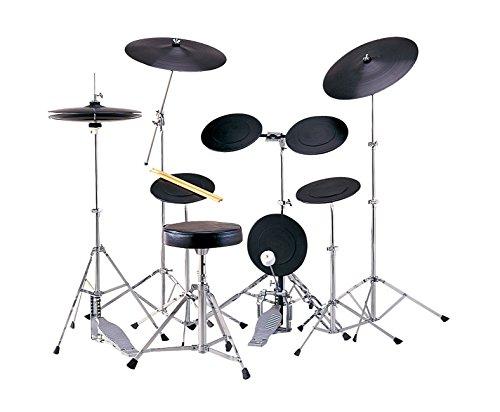 MAXTONE トレーニングドラムセット 2シンバルモデル ドラム椅子 ステ...