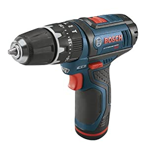 Bosch PS130-2A 12V Max Lithium-Ion Ultra Compact Hammer Drill Kit with 2 Batteries, Charger and Case