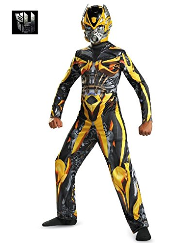 [Mygems Party Holloween Transformers Bumblebee Classic Costume for Boys] (Eye Makeup For Bumble Bee Costume)