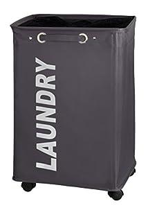 Amazon.com - WENKO 3450112100 Laundry bin Quadro Grey - laundry basket