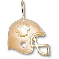 Clemson University Helmet Tiger Paw - 14K Gold by Logo Art