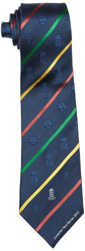 ECB England Cricket Men's Test Series Tie - Navy/Multi