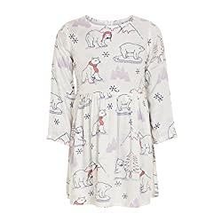Polar Bear Dress(BBKCD05_Penguins -OffWhite_9 to 10 years)