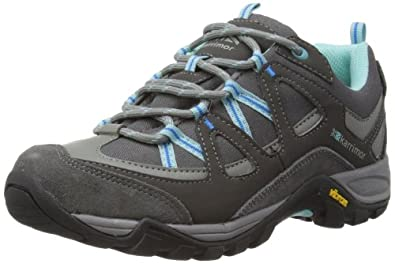 Karrimor Womens Solva Low Ladies Trekking and Hiking Shoes K695 Black Sea/Aqua 4 UK, 37 EU