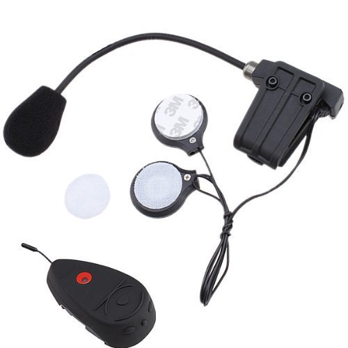 BrainyDeal Waterproof Stereo Motorcycle Helmet Intercom Headset Built-In Fm Radio Up To 3 Riders, 100M Intercom