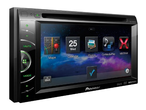 "Pioneer Two-Din In-Dash Multimedia Car Dvd Receiver With 6.1"" Wvga Touchscreen Display, Mixtrax, And Appradio Mode For Iphone 4S And Iphone, With Pandora Internet Radio, Features Direct Access And Control Of Music Stored On Ipod/Iphone Or Android Devices,"
