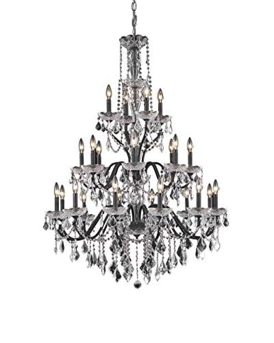 Crystal Lighting St. Francis 24-Light Chandelier, Dark Bronze