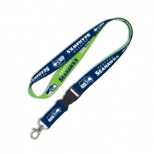 "NFL Seattle Seahawks 3/4"" Lanyard W/Detachable Buckle Brand New"