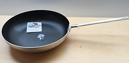 Pentole Agnelli FAMA11BSEL40 Padella Svasata Alta con Manico, Alluminio, Argento