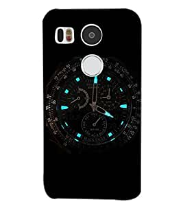 PrintDhaba WATCH SHADE D-6557 Back Case Cover for LG NEXUS 5X (Multi-Coloured)