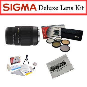 Sigma Lens Bundle For Canon Featuring Sigma 70-300Mm F/4-5.6 Dg Os Sld Super Multi-Layer Coated Telephoto Lens, Opteka Pro 5 Piece Filter Kit And More