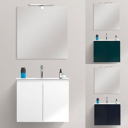 Mobile bagno arredo Fire 60x36 ultraslim sospeso moderno lavabo ceramica mdf 3 colori arredi