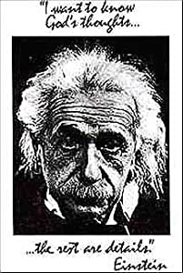 (24x36) Albert Einstein - I Want to Know God's Thoughts Quote Poster