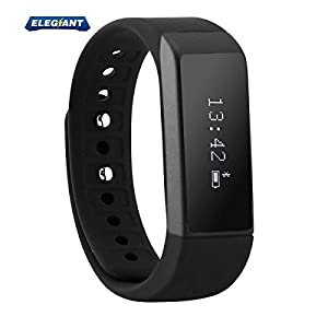ELEGIANT Wireless Fitness Pedometer Tracker Bluetooth Sports Bracelet Activity Tracker with Steps counter Sleep Monitoring Calories Track for Sports Fitness Gift