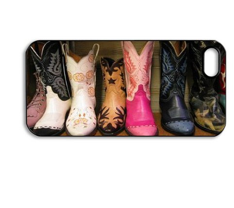 Treasure Design Cowboy Boots Apple Iphone5 Best Durable Case front-690620
