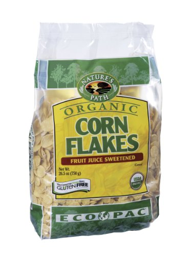 Nature's Path Organic Corn Flakes Cereal  Fruit Juice Sweetened, 26.4-Ounce Bags (Pack of 6)