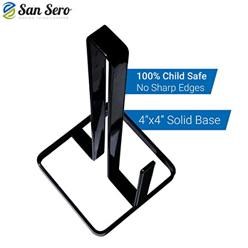 BEST Toilet Paper Holder - with 5 Star Rating + Lifetime Guarantee | Japanese Design - Stores 3 X Toilet Rolls - Solid Metal Construction with Square Base for Balance - Unique Special Tray Top Design | Ships today with Amazon.com