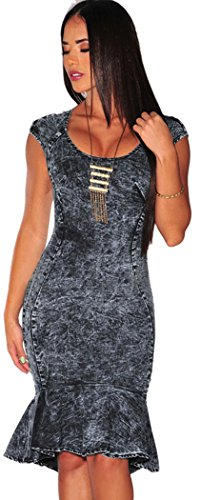 TomYork Unlit Denim Mermaid Dress(Size,M)