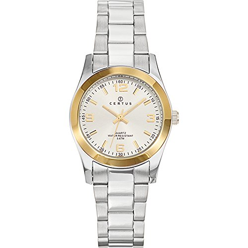 Certus 642386 - Ladies Watch - Analogue Quartz - Silver Dial Two-Tone Steel Bracelet