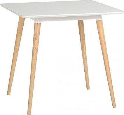 Julian tavolo da pranzo in bianco/naturale